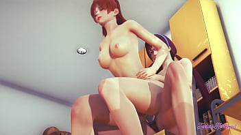 Evangelion Hentai Yuri 3D - Mari fingering and fuck with strapon to Asuka and squirt - Japanese Asian Manga anime Game Cartoon Porn Lesbian Animation