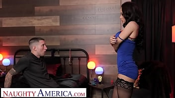 Naughty America - Dirty Russian wife Crystal Rush fucks strangers at sex club for her husband
