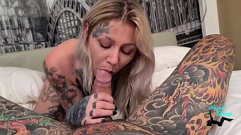 Nayomi Sharp meets Sascha Ink, from AltErotic, for the first time and Fucking in the Hour