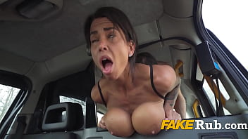Fucking A Real Busty Goddess For A Discounted Cab Fare