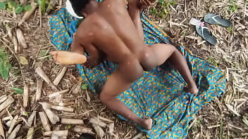 Farmer Fucking His Long Time Girlfriend In The Bush And Creampied Her In 3 Minutes