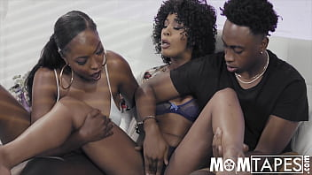 Black stepmom shackles her son and daughter to teach them to share her pussy - Misty Stone, Daya Knight