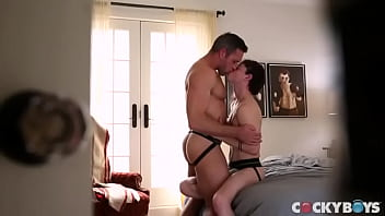 Hung stud Alex Mecum and sexy twink Cole Claire watch themselves in a mirror trying many positions
