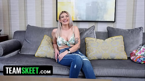 Gorgeous Fresh New Blonde With Blue Eyes Bounces Her Perfect Ass For A First Time On Camera