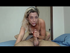 Messy and sloppy blowjob