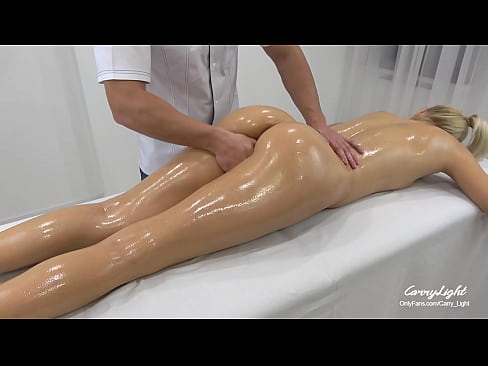 In-Home Massage Therapist Fucked Young Naughty Teen for First Time / Creampie Doggy style Fingering Pussy massage